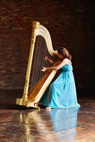 Guinness Harpist Portrait