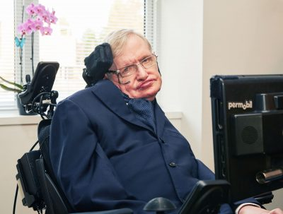 Stephen Hawking portrait for Sightsavers
